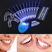 купить Teeth Whitening Oral Gel Polish Pen Kits Peroxide Professional Bleaching Dental Hygiene Care Tools Tooth Whitener with LED Light по цене 623.66 рублей