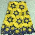 2016 Новый Дизайн Африканский кружевной ткани Оптовая цена Африканская Швейцарский вышивка вуаль кружевной ткани с камнями PR02