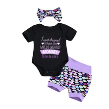 3PCS Baby Girl Boy Polka Dots Clothing Set Babies Bodysuit+Shorts Pants+Headband Kid Clothes Outfits 2019