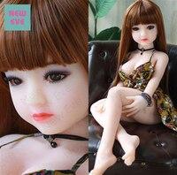 Продукт для взрослых 100 см реалистичный твердый силикон любовь кукла с скелетом японская искусственная вагина маленькая грудь секс кукла д