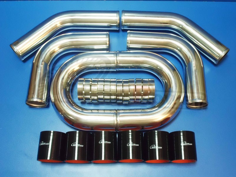 2 25 INCH OD 57mm TURBO INTERCOOLER PIPE ALUMINUM PIPING thickness 2 mm T CLAMPS SILICONE