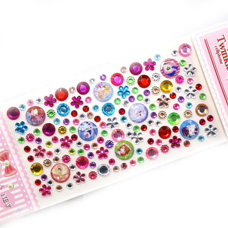 Decorative Rhinestone Stickers : Sheet acrylic decorative motif rhinestones sticker diy