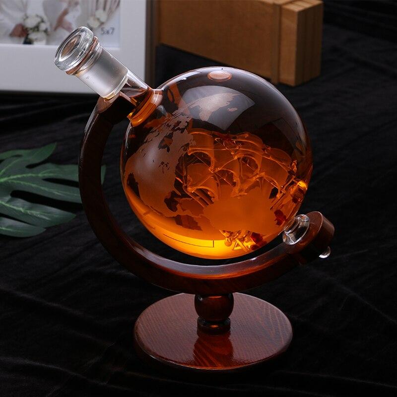 Globe ขวดไวน์ครัวเรือนตกแต่งแฟชั่นขวดไวน์แก้วที่ว่างเปล่าขวด art ขวดไวน์-ใน ที่ตวงสำหรับบาร์ จาก บ้านและสวน บน   3