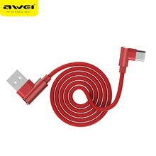 Awei Type-C mobile phone data line Fabric art zinc alloy charging quick for Type-c devices