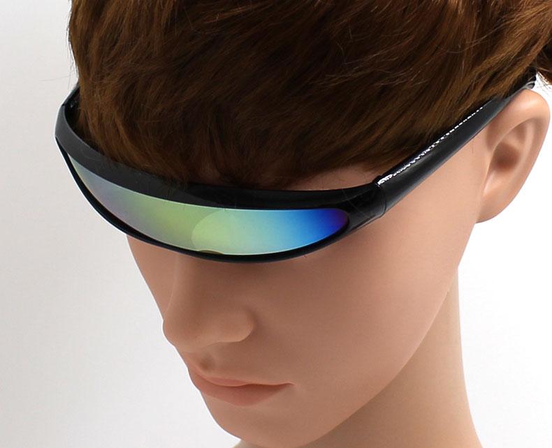 9e4a1834c7 ... Glasses One Piece Sunglasses Men Women Black Bar Silver Goggle For Fashion  Party Oculos de Sol Feminino. 01. 14. Features  1. One Piece Goggle
