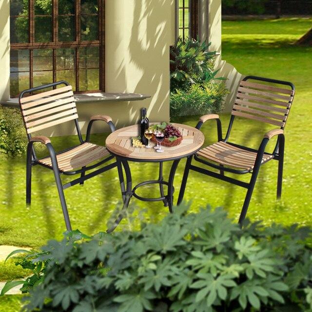 Salon de jardin enfant bois balcon patio table et chaises en teck ...