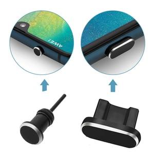 Metal Dust Plug Micro USB Char