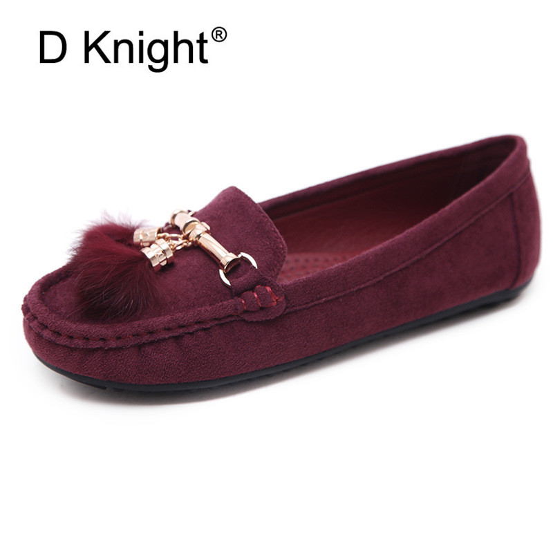 Women Loafers New 2019 Genuine Leather Moccasin Shoes Woman Faux Fur Metal Slip On Ballet Flats Comfortable Casual Women Shoes 2018 new genuine leather flat shoes woman ballet flats loafers cowhide flexible spring casual shoes women flats women shoes k726