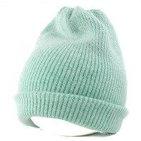 ארנב נדל פרווה סרוג כובעים רגיל הנשים החורף חם חם כובע צמר כפת Gorro Skullies בימס 5 צבעים חדשים חיצוני ספורט