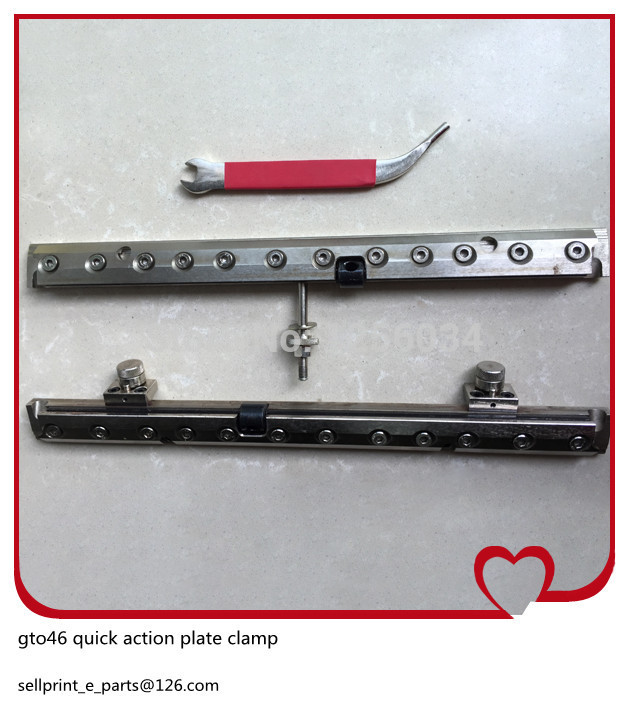 1 set high quality multicolor quick action plate clamp for heidelberg gto 46 printing machine