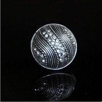 Glass Diamond Drawer Knob Handle Crystal Dresser Pull Knob Antique Iron Kichen Cabinet Cupboard Door Knob