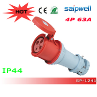 HOT Sale CEE/ IEC 3P 32A 2P+E 6H Single Phase Industrial waterproof plug and connector