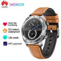 Huawei Honor Original Watch Magic SmartWatch NFC GPS 5ATM WaterProof Run Heart Rate Tracker Tracker Working Message Reminder