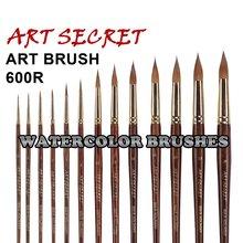 high quality paint art brushes pure kolinsky hair  watercolor brush 600R oak wood handle