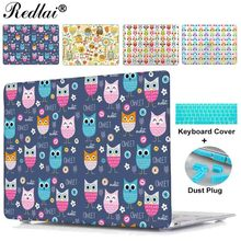 For Apple Macbook Pro 13 15 Retina Display 2015 Case Colorful Owl Baby Print Hard Case Cover For Mac Book Air 11 13 Laptop Case
