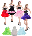 "Free shipping  soft fabric  66cm 26"" Long Petticoat Rockabilly Swing Pettiskirt Tulle Slip 50s Retro all  colors S/M L/XL 2XL"