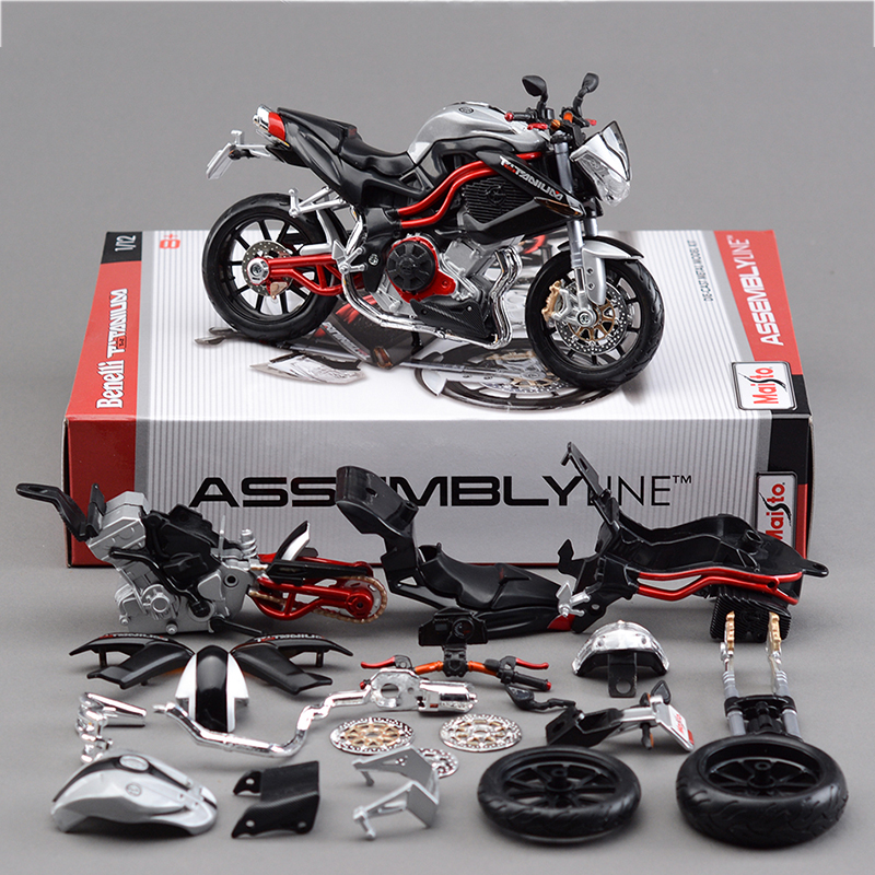 Maisto 1:12 TNT Titanium Motorcycle Model Kit 1:12 scale metal diecast models motor bike miniature race Toy For Gift Collection цена 2017