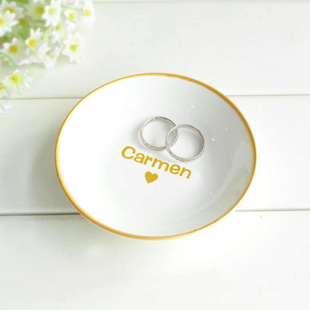Engagement Gift Ring Holder Jewelry Dish Handmade Dish Trinket Dish