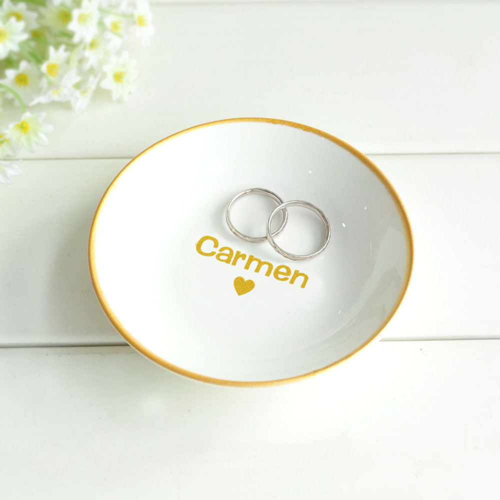 Personalised Ring Dish Engagement Ring Holder Jewellery Dish Custom Trinket Holder Gifts For Her Bridesmaid Gift