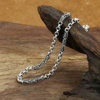 Fashion S925 Sterling Silver Retro Thai Silver Vintage Style Custom Made Necklace Men And Women