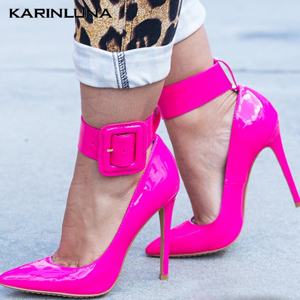 Brand Design Plus Size 47 Sexy Thin High Heels Women Shoes Pumps Pointed Toe Summer Party ankle-strap Shoes Woman 2019 StilettoBrand Design Plus Size 47 Sexy Thin High Heels Women Shoes Pumps Pointed Toe Summer Party ankle-strap Shoes Woman 2019 Stiletto