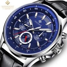 2017 Mens Watches WISHDOIT Famous Brand Casual Military Quartz Sport Wrist Watch Stainless Steel Male Clock Relogio Masculino