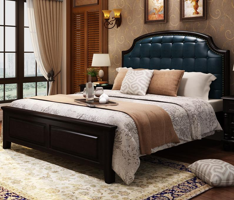 8 Luxury Bedrooms In Detail: Luxury Beautiful Solid Wood Bed 1.5/1.8m-in Bedroom Sets