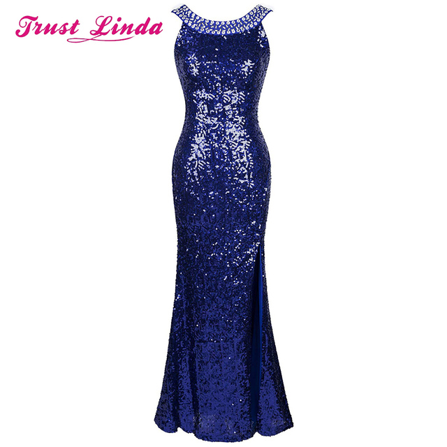 Fashion Style Beading Neckline Unique Back Prom Gown Floor Length Formal Evening Dresses Custom Made