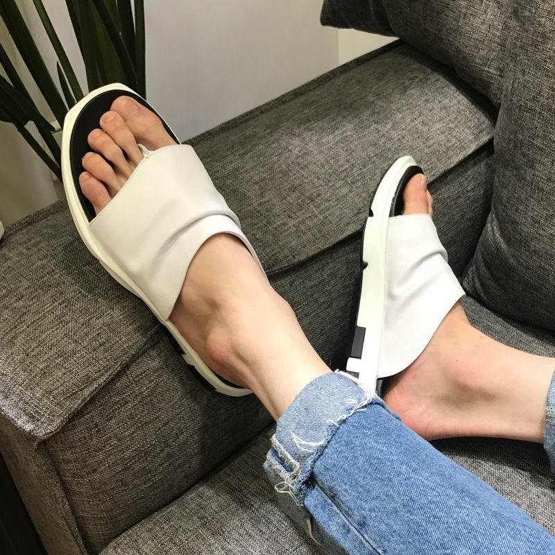 ERRFC Fashion Mens Black Slippers Shoes Summer Hot Selling Man White Flip Flops Platform Sand Shoes