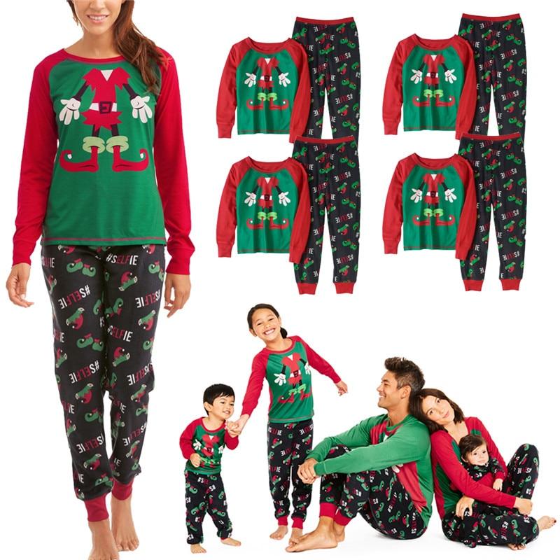 Hot Kids Adult Family Matching Christmas Pajamas 2Pcs ...