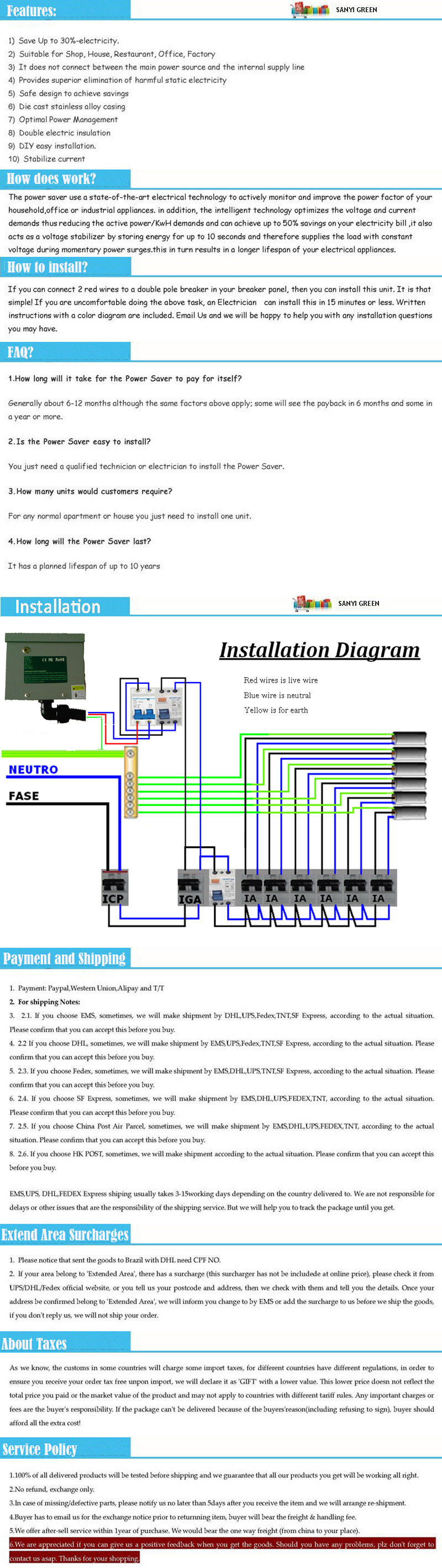 Sanyi Amandla 50kw Power Saver Single Phase For Home And Office Circuit Diagram Can Be Used All Day Every Continuously Under Any Climate