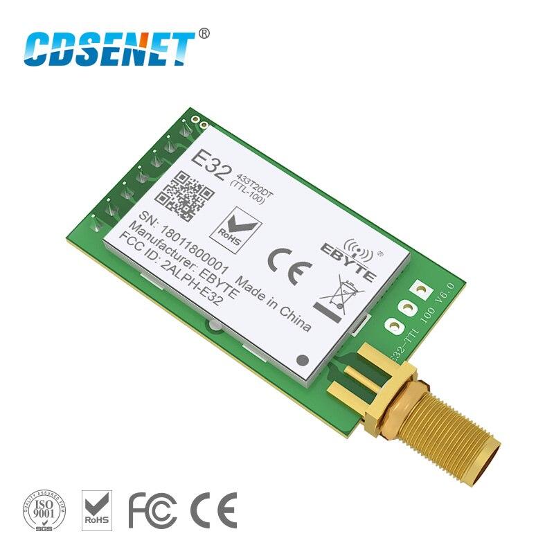 LoRa SX1278 433 MHz módulo rf inalámbrico iot transceptor CDSENET E32-433T20DT UART de largo alcance 433 MHz receptor Transmisor rf