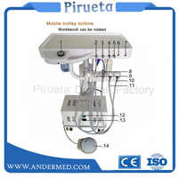 Good quality portable mobile dental multifunctional synthesis treatment unit mobile dental clinic unit