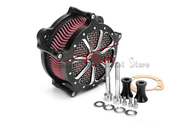 2016 ventas calientes Negro Motocicleta Sistema de Filtro de Aire de Admisión Filtro Aire Para Harley Softail Dyna Touring Modelo