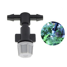 Gray Garden Fog Nozzle Pressure Sprayer Drip Irrigation With 4 / 7mm Tees Connector Watering Sprinklers Mist 200 Pcs(China)