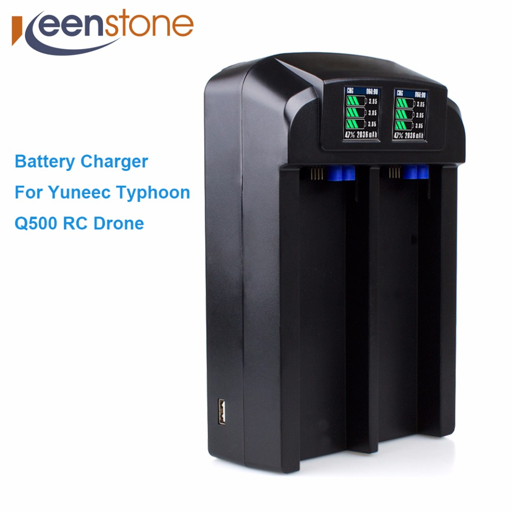 Keenstone Intelligent Balance Battery Charger 6A 100W Customzied For Yuneec Typhoon Q500 RC Drone with LED Screen US Plug HOT флюид kapous professional fluid with biotin against split ends of hair