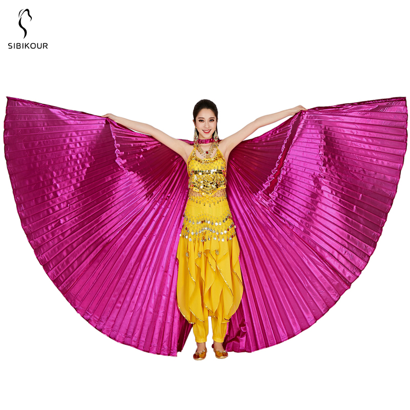HTB1keWwbUGF3KVjSZFmq6zqPXXaG - Belly Dance Isis Wings Belly Dance Accessory Bollywood Oriental Egypt Egyptian Wings Costume With Sticks Adult Women Gold