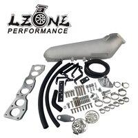 LZONE Polish Cast Aluminium Intake Manifold For Toyota 93 98 Supra 2JZ 2JZGTE Engine Intake Manifolds JR IM33SL