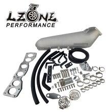 LZONE collettore daspirazione di alluminio fuso polacco per Toyota 93 98 Supra 2JZ 2 collettori di aspirazione del motore di JZGTE JR IM33SL