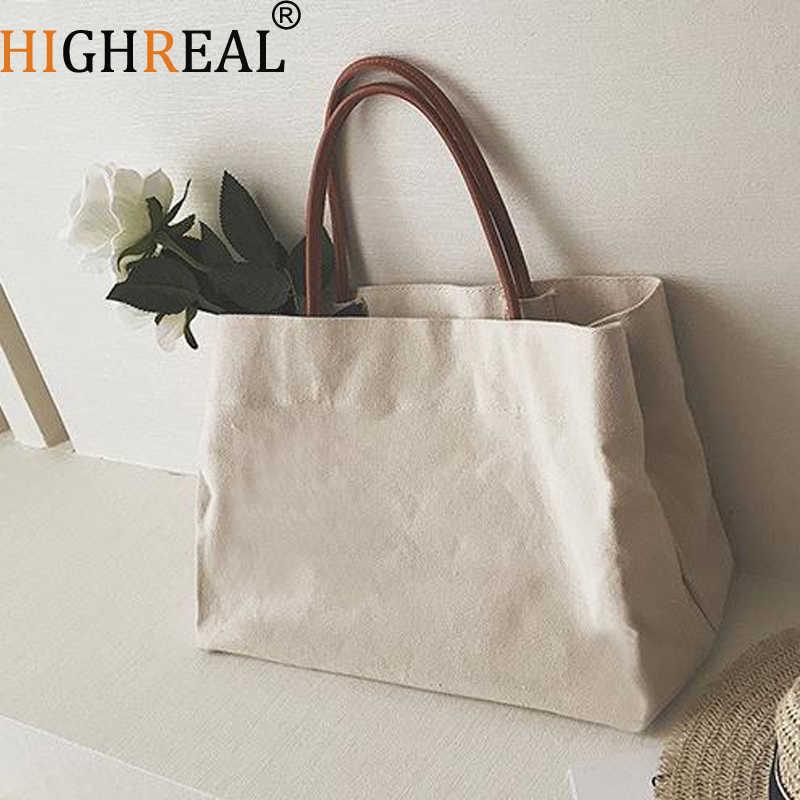 Большая сумка для покупок Jumbo Холщовая Сумка Пляжная сумка на плечо  летняя белая Повседневная сумка 2018 135b2adda98