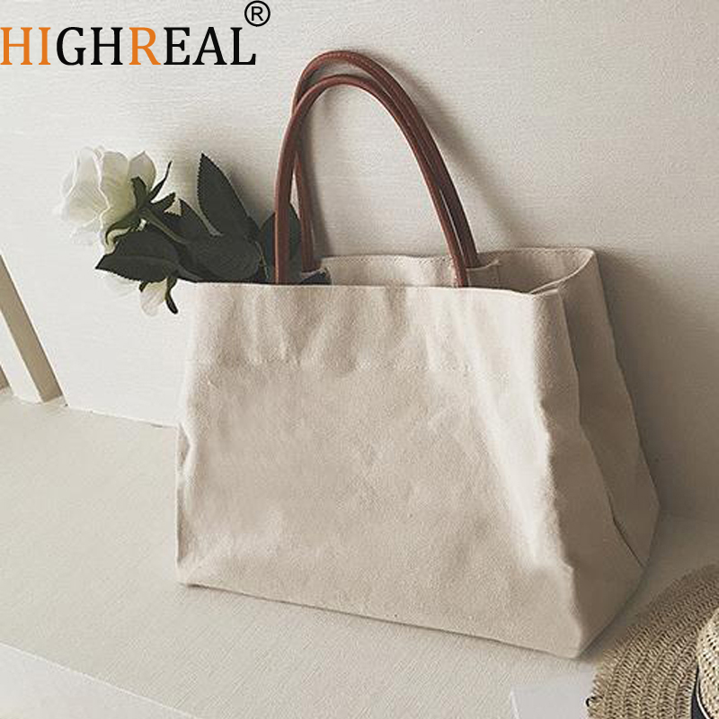 Large Shopping Bag Jumbo Canvas Totes Beach Bag Shoulder Bag Summer White Casual Totes 2018 Fashion Beige White Color fabra women beach canvas bag patchwork color stripes printing handbags lady large shoulder bag totes casual bolsa shopping bags