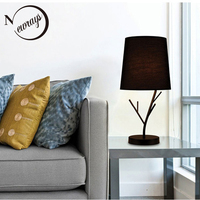 Nordic simple iron fabric table lamp modern art deco desk lamp LED E27 with 2 colors for study bedroom living room restaurant