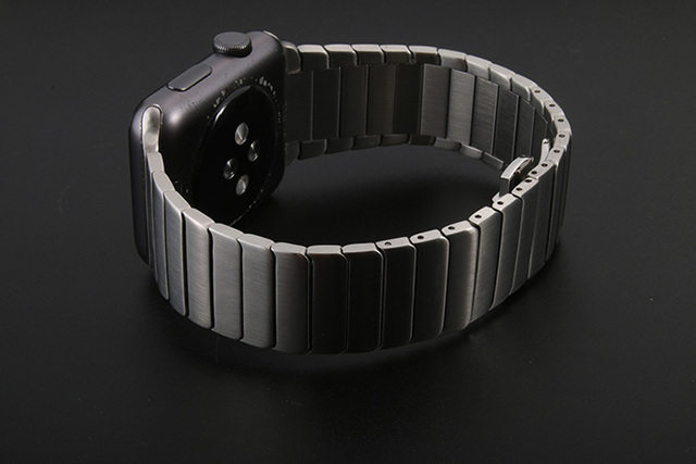 Luxury Stainless Steel link bracelet band for apple watch Series 1 2 band iwatch stainless steel strap 38MM/42MM with adapters | Watchbands