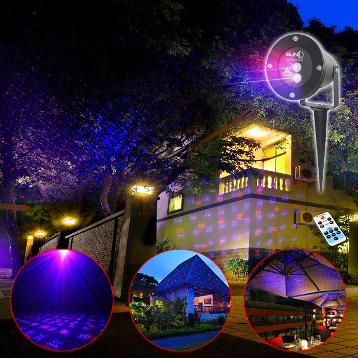 Outdoor Waterproof Latest RB Laser Light Christmas Lights Projector Garden Grass Landscape Decorative Light