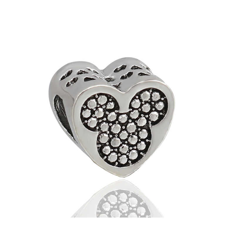 Maxi เคลือบ Love Heart กระต่ายสายรุ้งขนาดเล็ก Baby Girl & Boy Mickey ลูกปัด Pandora Charm สำหรับผู้หญิง DIY เครื่องประดับของขวัญ