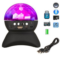 Wireless Speakers Crystal Ball Disco Colorful Bluetooth LED Party Lights Speaker Support FM TF Card AUX For Outdoor Dance Party