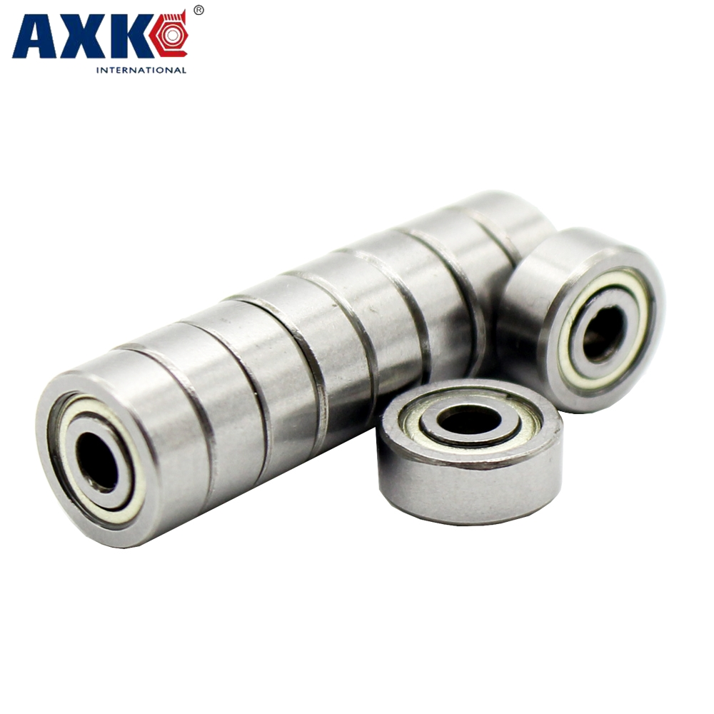 AXK 10pcs/lot 624 624Z 624ZZ ball bearing 4*13*5 mm chrome steel bearing free shipping 123 13 624 41 801000[