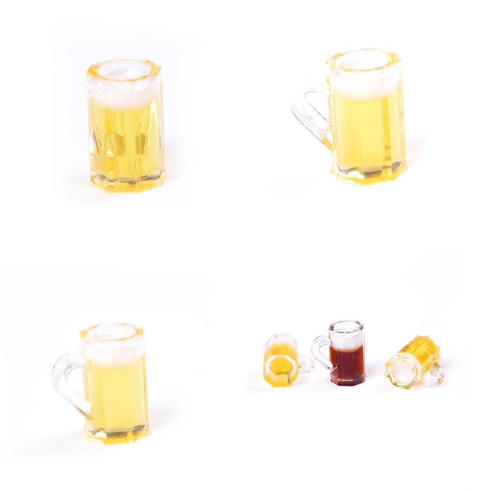 1Pc Mini Cups Goblet Poppenhuis Bier Cups Miniatuur Keuken Speelgoed 1:12 Poppenhuis Mini Bier Cups Kawaii Miniatuur Drinken japanse