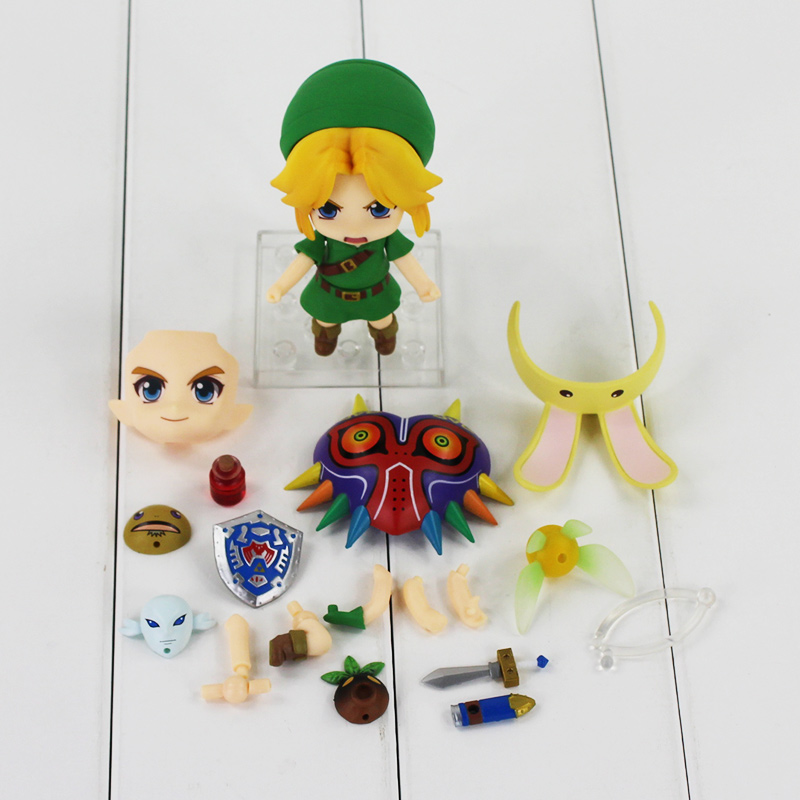 10cm The Legend of Zelda Link 553 Majora's Mask 3D Ver PVC Figure Action Model Toys Doll Gifts For Children legend of zelda action figure toys 10cm pvc nintendo 3ds zelda manga figma zelda link vinyl doll
