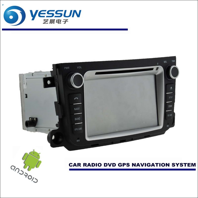 YESSUN Car Android Navigation For Benz For Smart Fortwo 2012~2013 Radio Stereo CD DVD Player GPS Navi BT HD Screen Multimedia